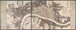 A new and exact plan of the city of London and suburbs thereof, with the addition of the new buildings, churches &c. to this present year 1731, (not extant in any other)